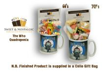 The Who Quadrophenia Mug with a MOD selection of 60's  or 70's retro sweets